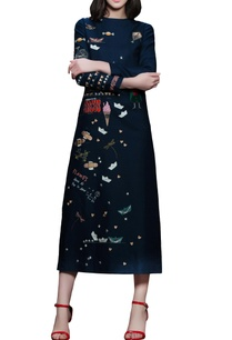 navy-blue-embroidered-midi-dress