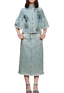 sky-blue-embroidered-skirt-set