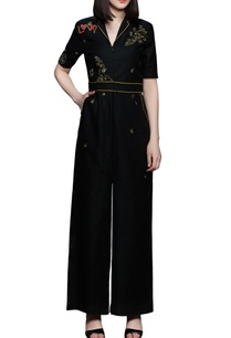 black-long-belt-jumpsuit