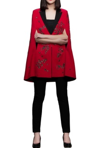 red-black-embroidered-crepe-cape