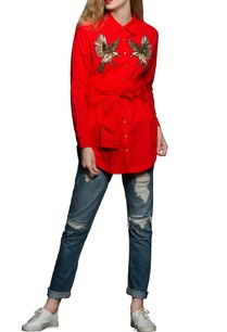 red-embroidered-poplin-shirt