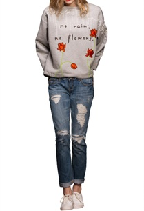 grey-floral-motif-sweatshirt