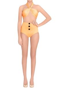orange-halter-bralette-high-waist-bikini