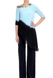 blue-black-ombre-long-blouse