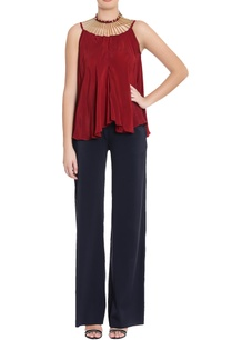 maroon-crepe-silk-blouse-with-embellishments