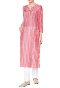 peach-silk-printed-kurta