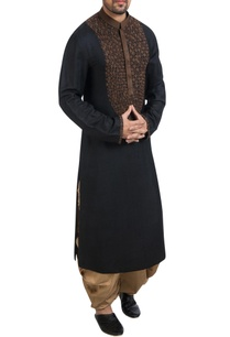 black-zardozi-kurta-with-brown-dhoti-pants