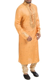 orange-gota-kurta-churidar
