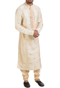 beige-raw-silk-kurta-set