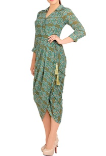 green-printed-dhoti-dress
