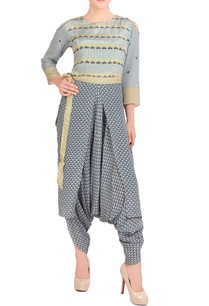 blue-yellow-dhoti-style-jumpsuit