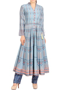 blue-printed-anarkali-with-pants