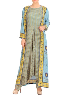 blue-yellow-dhoti-jumpsuit-with-jacket