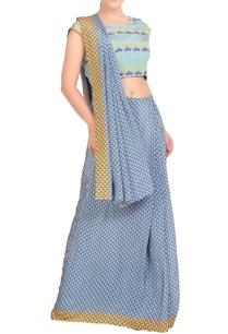 blue-yellow-printed-sari-with-blouse