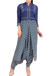 blue-dhoti-jumpsuit-with-short-jacket
