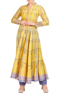 yellow-flared-anarkali-with-pants