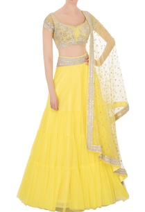 yellow-silver-sequin-embellished-lehenga-set