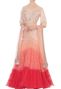 peach-net-sequin-lehenga-set