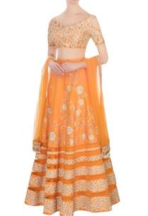 pastel-orange-floral-embroidered-lehenga-set