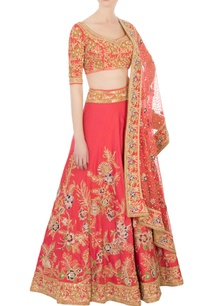 coral-red-zari-resham-lehenga-set