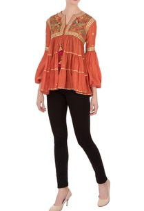 burnt-orange-resham-gota-tunic