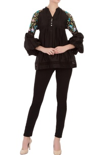 black-tussar-silk-tunic