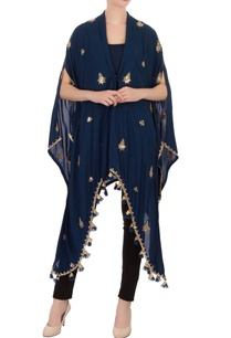blue-knot-style-tassel-cape-tunic