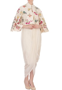 cream-draped-dress-embroidered-cape