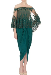 green-draped-dress-with-net-cape