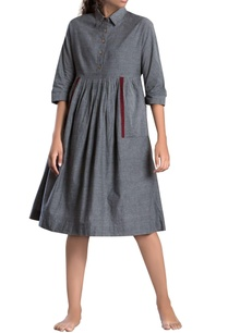 grey-handloom-cotton-midi-dress