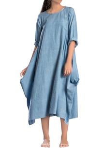 blue-antifit-cowl-style-dress