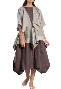 grey-draped-short-jacket