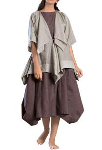 grey-draped-short-jacket