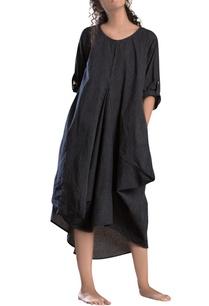 black-antifit-handloom-cotton-dress