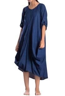 blue-hand-spun-khadi-antifit-dress