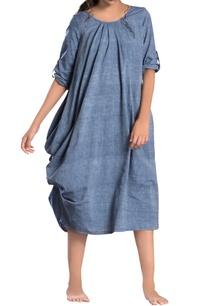 light-blue-one-sided-pleated-dress