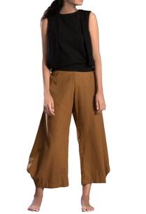 tan-brown-cowl-pants