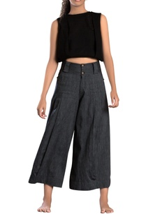 charcoal-linen-khadi-parallel-pants