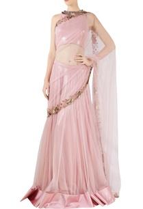 onion-pink-net-sequence-sari