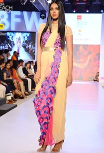 beige-sari-gown-with-floral-embroidery