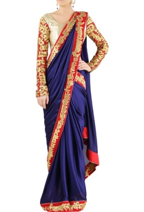 blue-satin-embroidered-sari