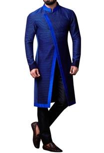 blue-spun-silk-overlap-bandhgala-set