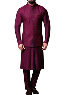 plum-purple-bandhi-jacket-set