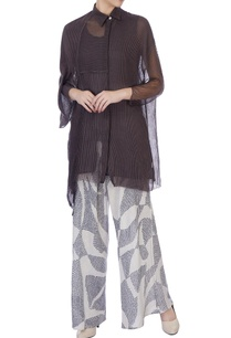 ecru-dark-grey-sheer-silk-organic-handwoven-cotton-blouse-and-palazzo