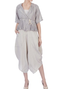 light-grey-handwoven-woolen-handwoven-silk-blouse-and-dhoti-pants