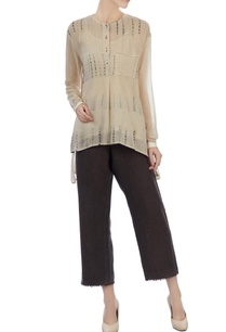 chocolate-brown-linen-pants-hand-woven-top