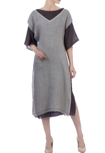 grey-chocolate-brown-linen-tunic