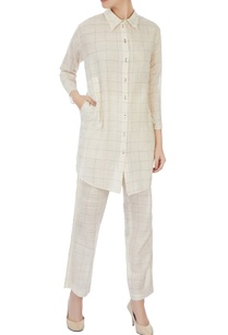 cream-gingham-check-tunic-pants