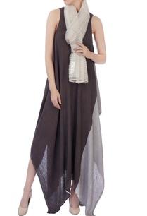 ecru-beige-silk-linen-block-printed-scarf