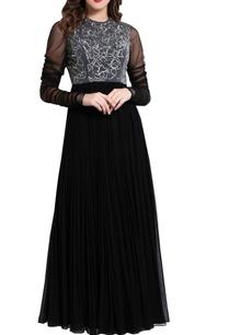 black-cutdana-work-maxi-dress